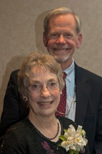 Lois Kershner with her husband Tom Scannell