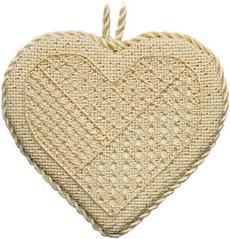 Pulled Thread Heart