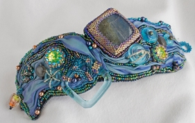Silken Sea Cuff by Marie Campbell